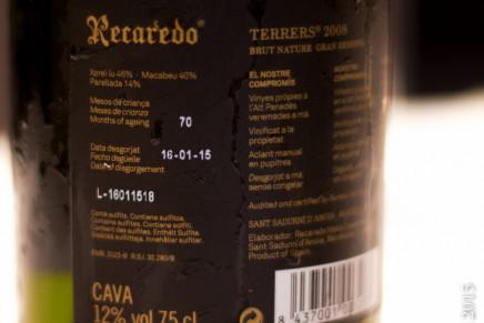 Recaredo, Terrers 2008 Brut Nature Gran Reserva (Espagne, Catalogne, Cava)