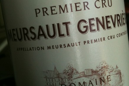 Quick review : Meursault 1er Cru Genevrières 2008 by Bouchard Père&Fils (France, Meursault)