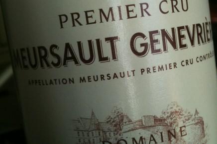Quick review : Meursault 1er Cru Genevrières 2008 by Bouchard Père&Fils (France, Meursault)