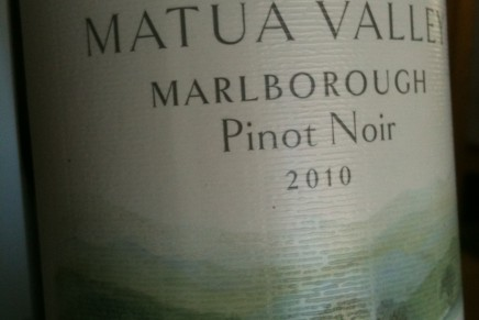 Matua, Matua Valley Marlborough Pinot Noir 2010 (Nouvelle-Zélande, Marlborough)