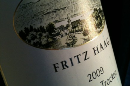 Quick review : Riesling Trocken 2009 by Fritz Haag (Allemagne, Mosel)