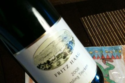 Quick review : Riesling Trocken 2008 by Fritz Haag (Allemagne, Mosel)