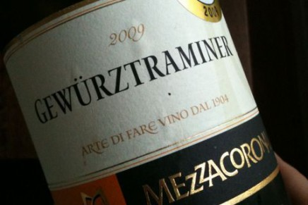 Quick review : Gewurztraminer 2009 by Mezzacorona (Italie, Trentin)