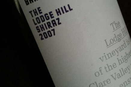 Quick review : The Lodge Hill Shiraz 2007 by Jim Barry (Australie, Clare Valley)