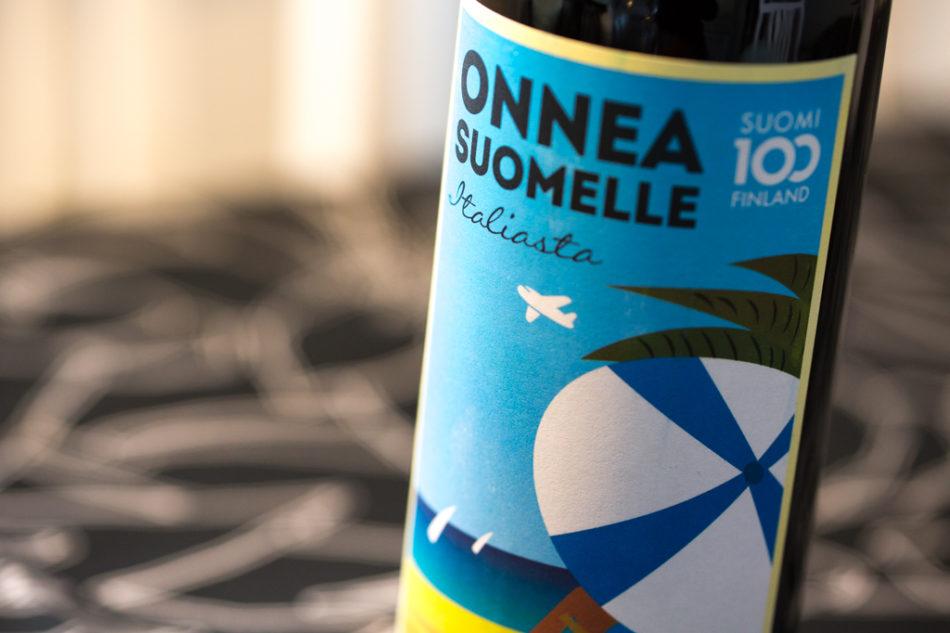 ALKO : Onnea Suomelle Italiasta, Apulia Primitivo Organic IGT 2015 (by Arcus)