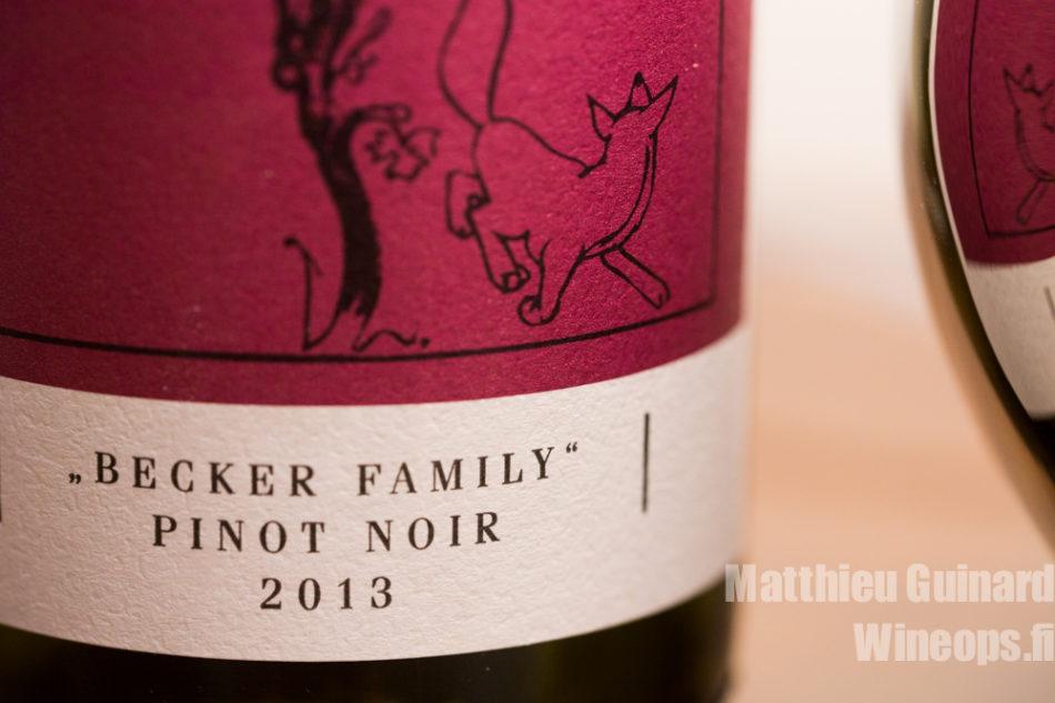 ALKO: Becker Family, Pinot Noir 2013 (Germany, Pfalz)